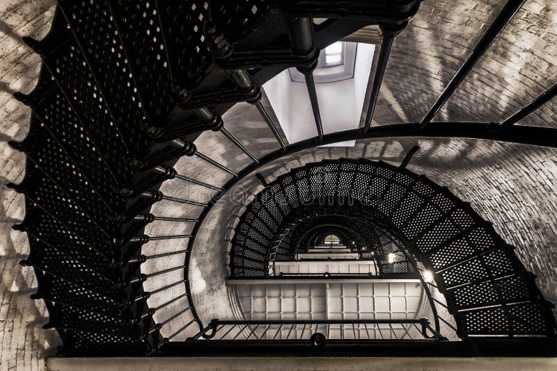 Escalera del faro del St Augustine imagen de archivo