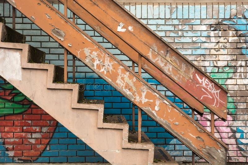 Escalera del Grunge foto de archivo libre de regalías