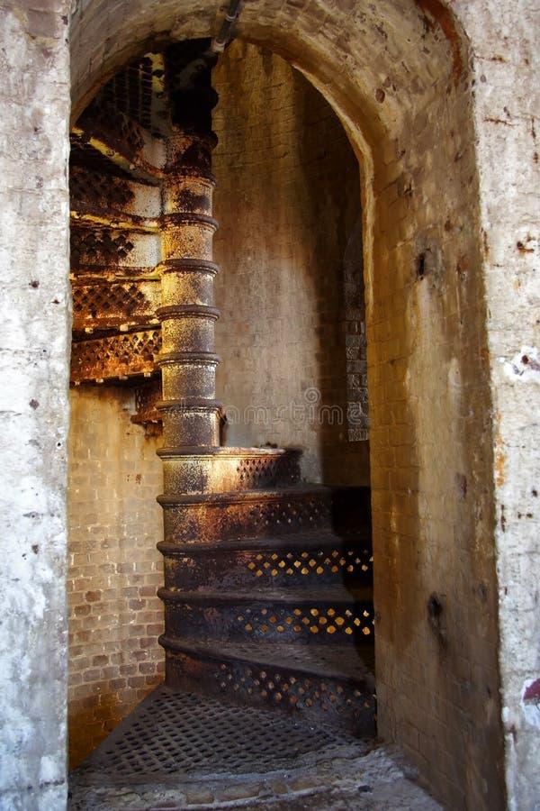 Escalera del hierro fotos de archivo
