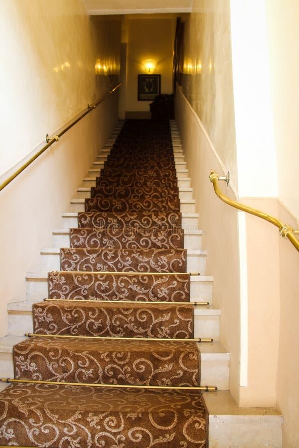 Escalera del hotel de Venecia Italia fotos de archivo libres de regalías