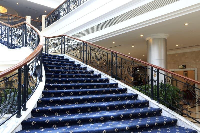 Escalera del hotel huizhan (de la exposición) fotos de archivo libres de regalías