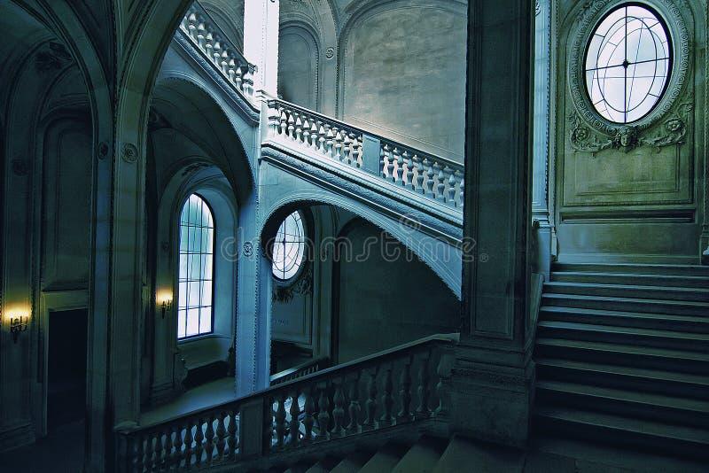 Escalera del Louvre del La fotos de archivo