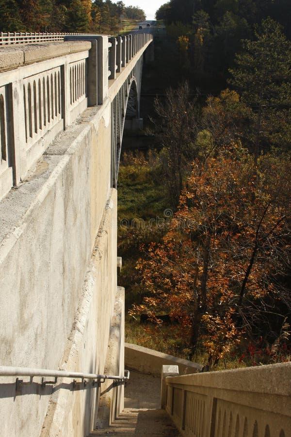 Escalera del puente imagen de archivo libre de regalías