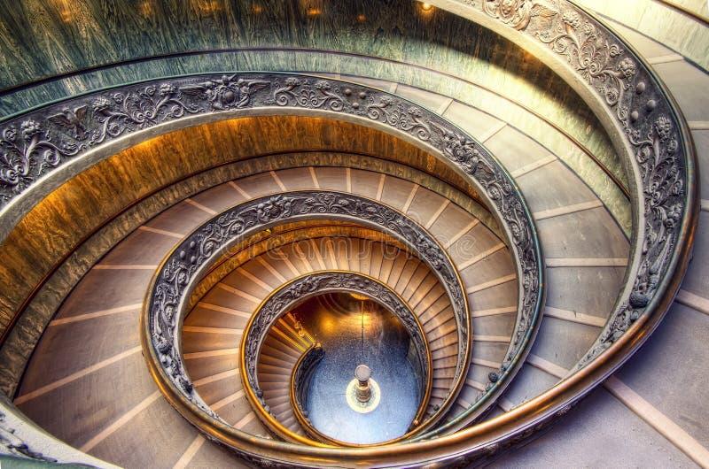 Escalera del Vaticano fotografía de archivo libre de regalías