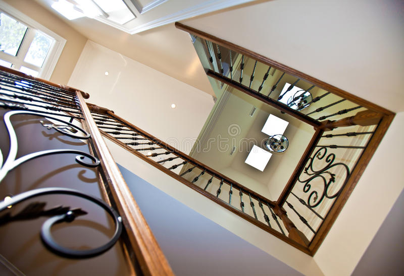Escalera del vestíbulo foto de archivo libre de regalías