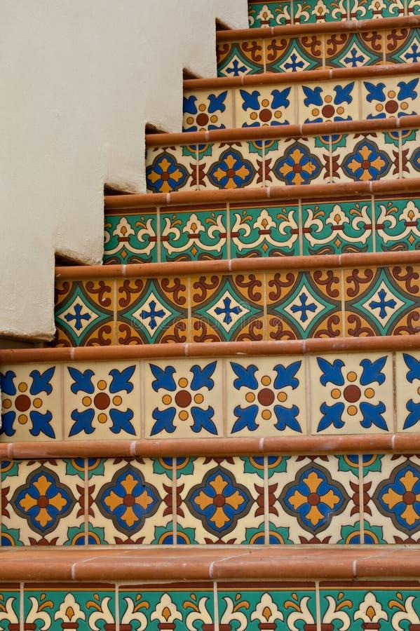 Escalera embaldosada imágenes de archivo libres de regalías