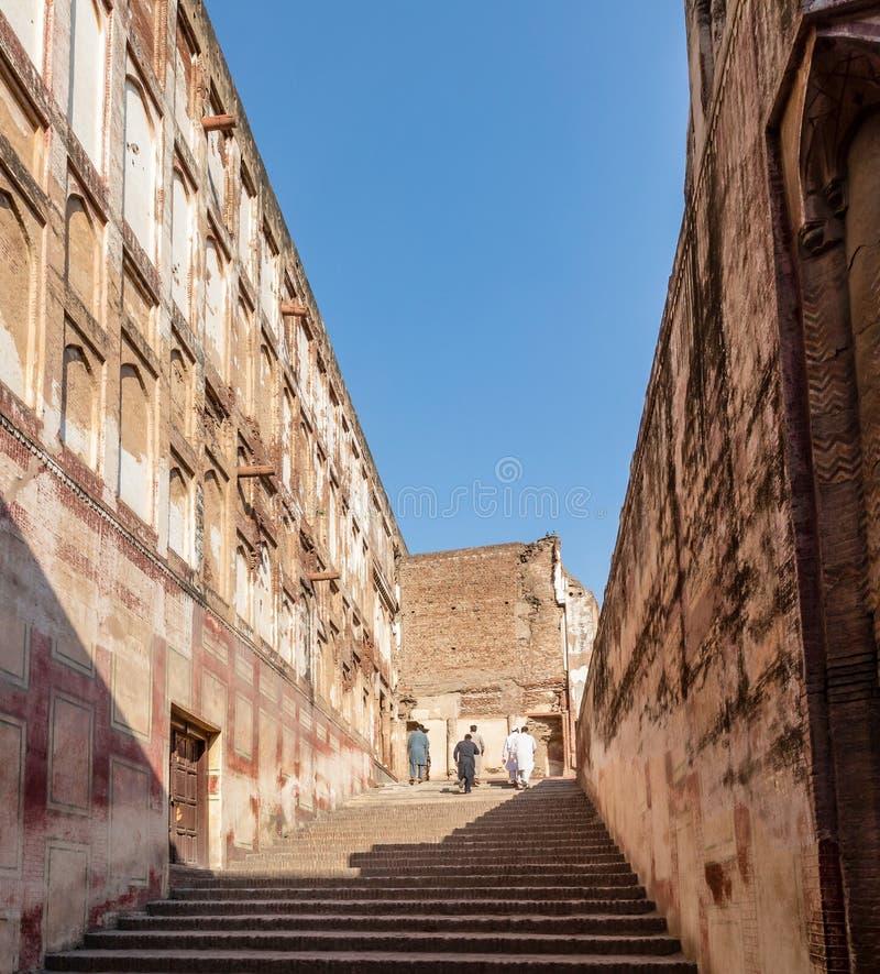 Escalera en el fuerte de Lahore, Lahore fotos de archivo libres de regalías