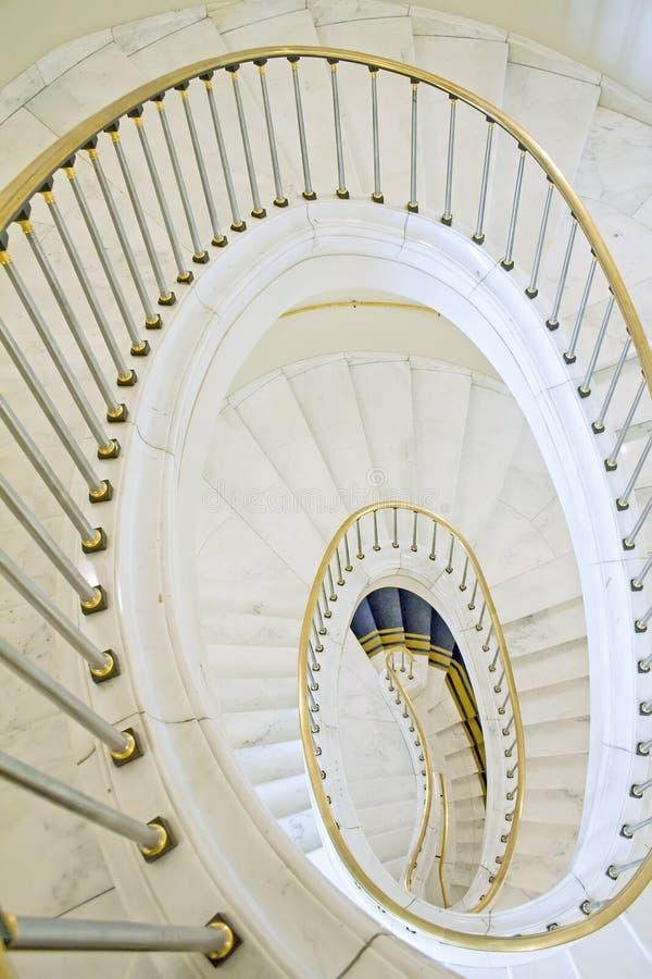 Escalera en el palacio polaco. fotografía de archivo