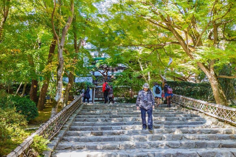 Escalera en el templo de Ryoan-ji imagen de archivo libre de regalías