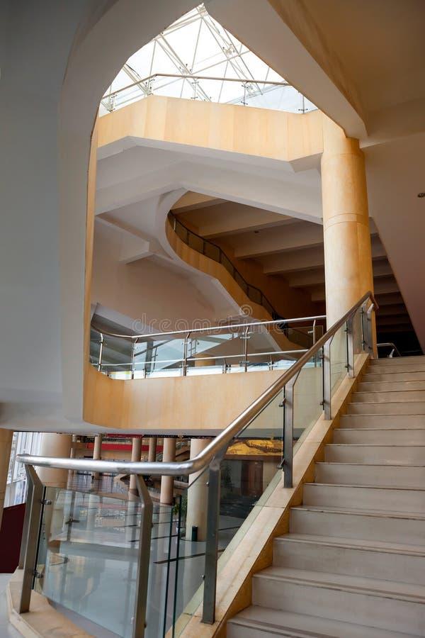 Escalera en hotel foto de archivo libre de regalías