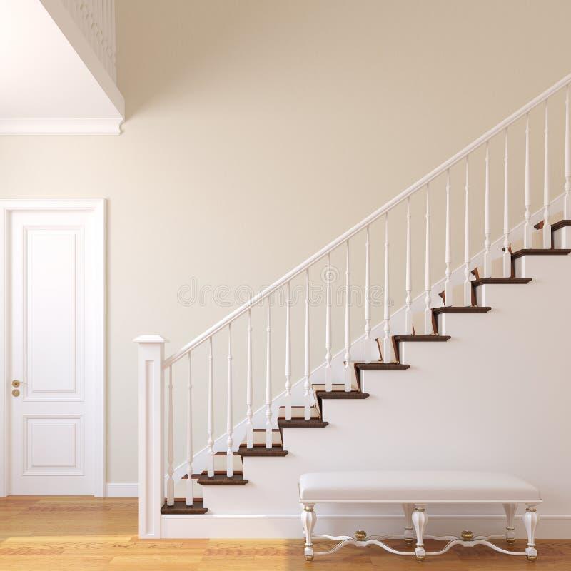 Escalera en la casa moderna. ilustración del vector
