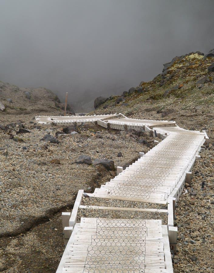 Escalera en la montaña imagen de archivo libre de regalías