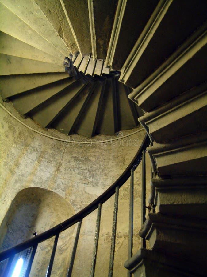 Escalera espiral fotografía de archivo