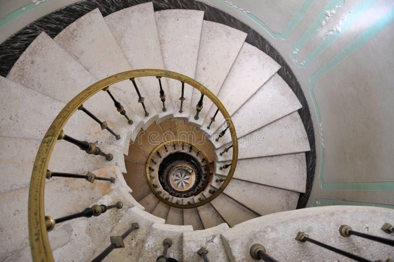 Escalera espiral fotos de archivo