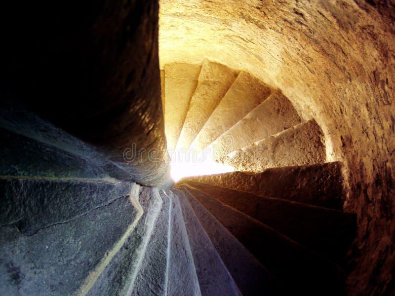 Escalera espiral en un castillo escocés fotografía de archivo