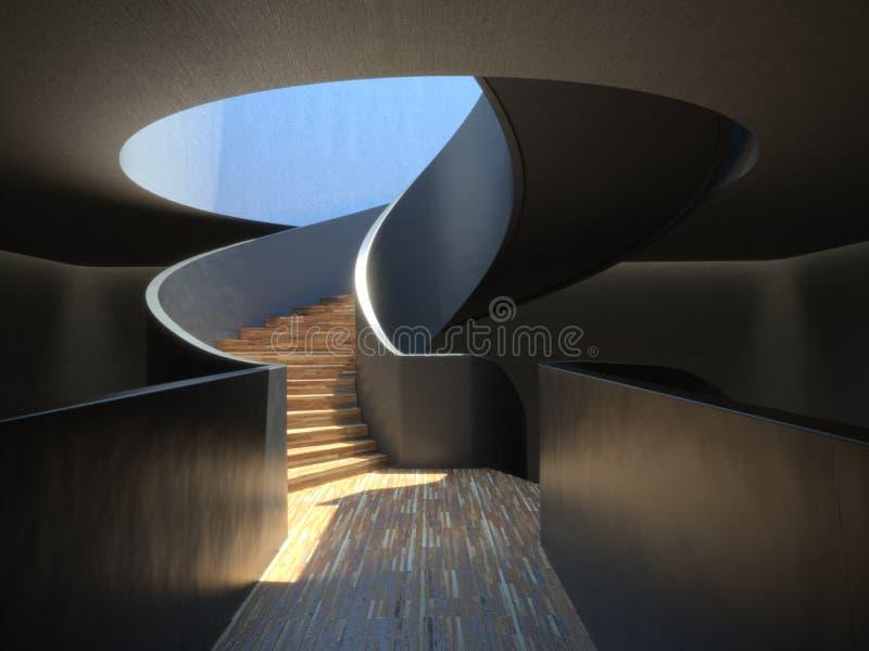 Escalera espiral moderna ilustración del vector