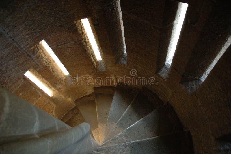 Escalera espiral, monumento de Wallace fotografía de archivo