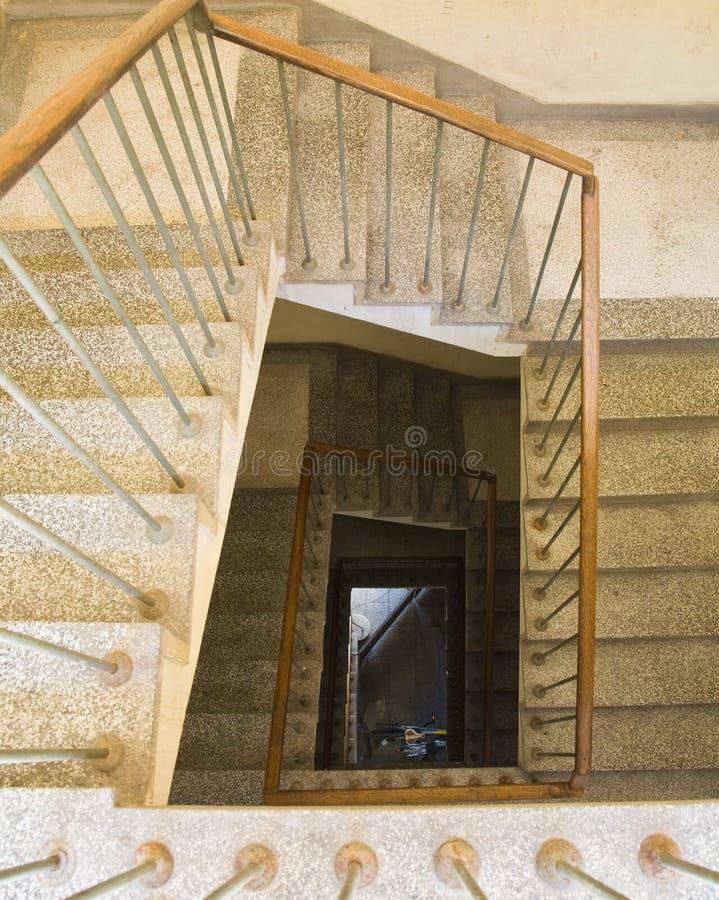 Escalera espiral rectangular fotografía de archivo