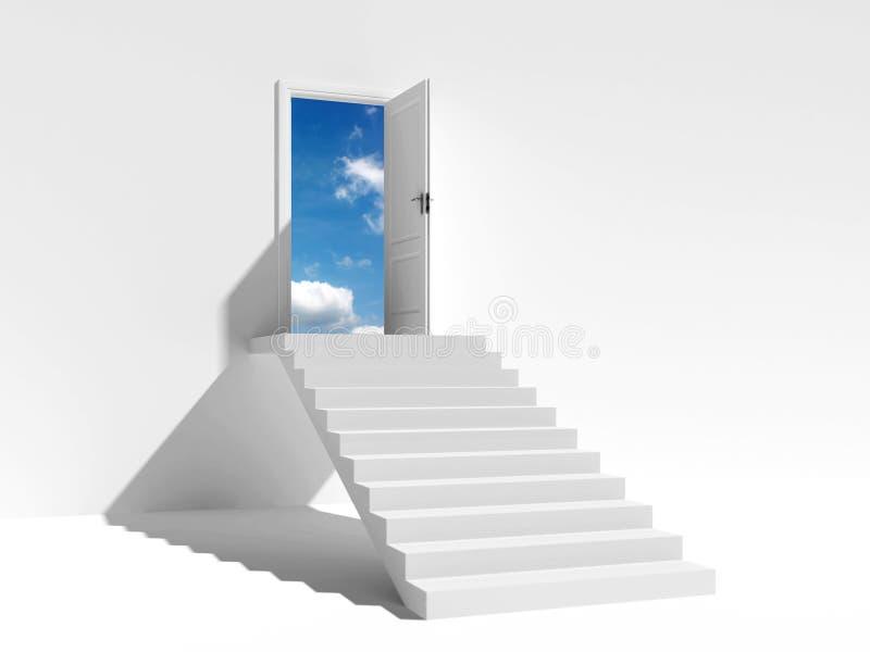 Escalera hacia el cielo libre illustration