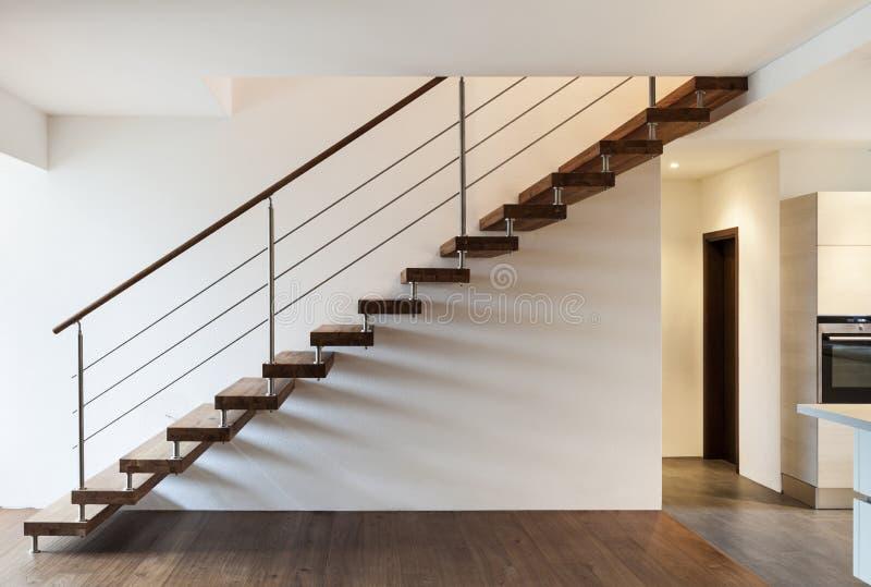 Escalera, interior foto de archivo