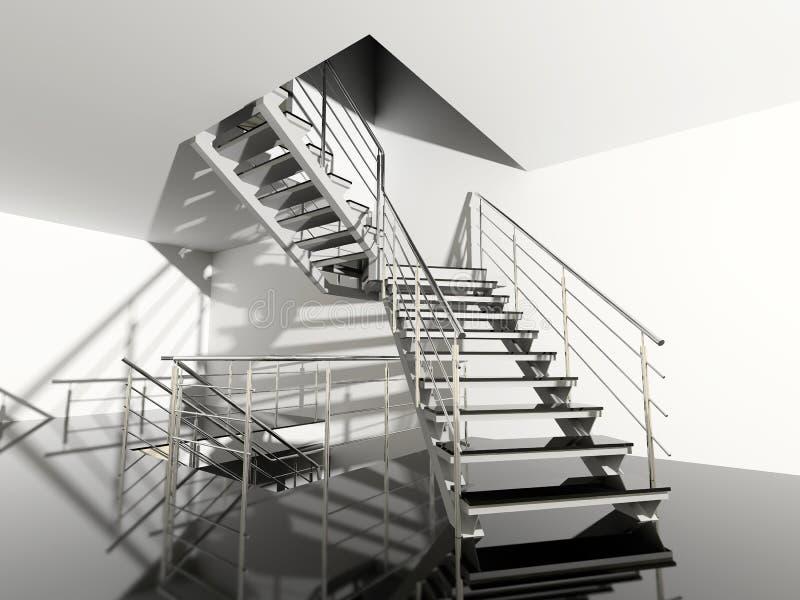 Escalera moderna stock de ilustración