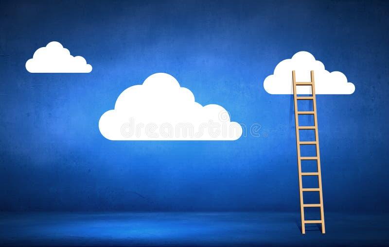 Escalera a nublarse imagen de archivo