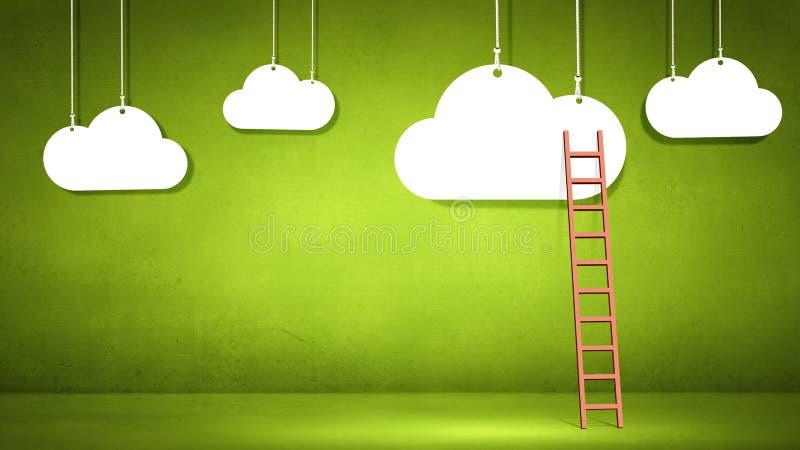 Escalera a nublarse fotografía de archivo libre de regalías