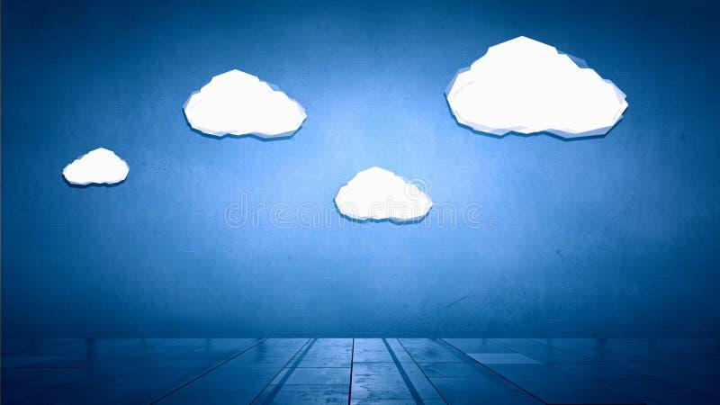 Escalera a nublarse imágenes de archivo libres de regalías
