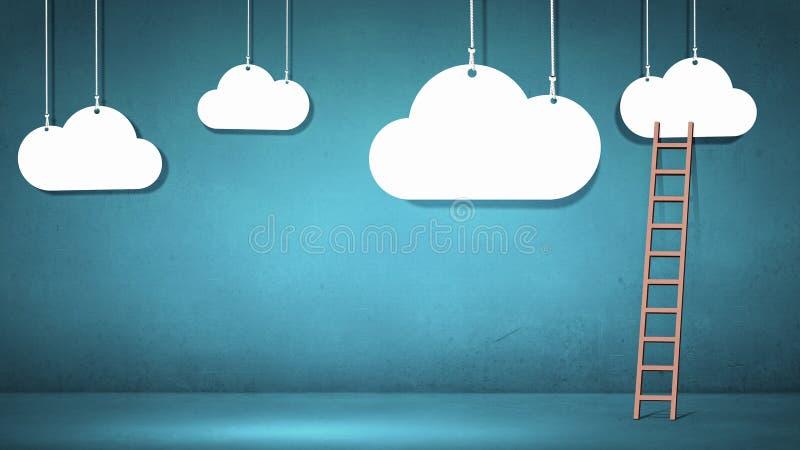 Escalera a nublarse foto de archivo libre de regalías