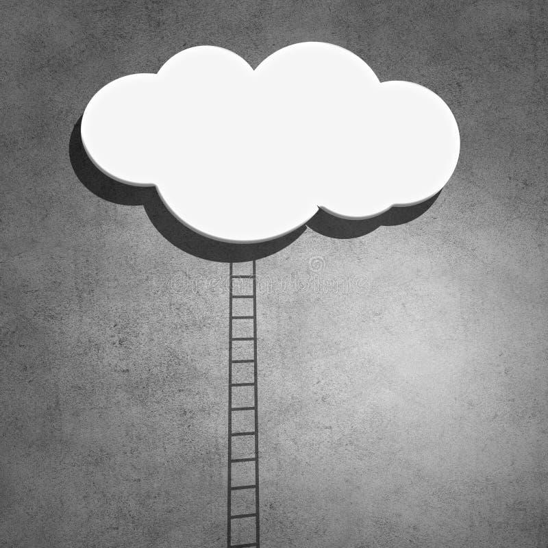 Escalera a nublarse en cielo fotografía de archivo