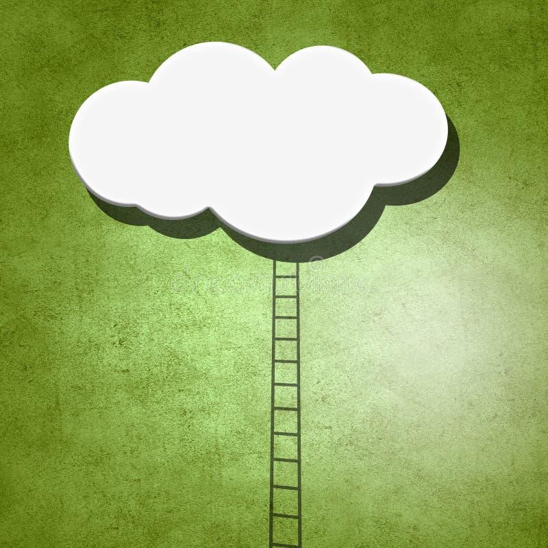Escalera a nublarse en cielo fotos de archivo
