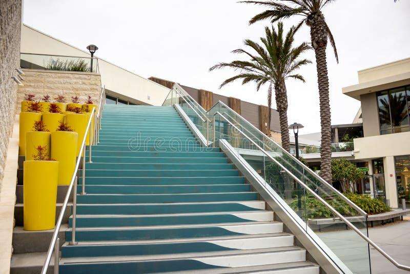 Escalera pacífica de la ciudad fotos de archivo libres de regalías