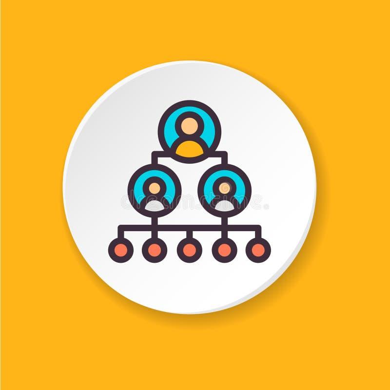 Escalera plana de la carrera del icono del vector Botón para el web o el app móvil stock de ilustración
