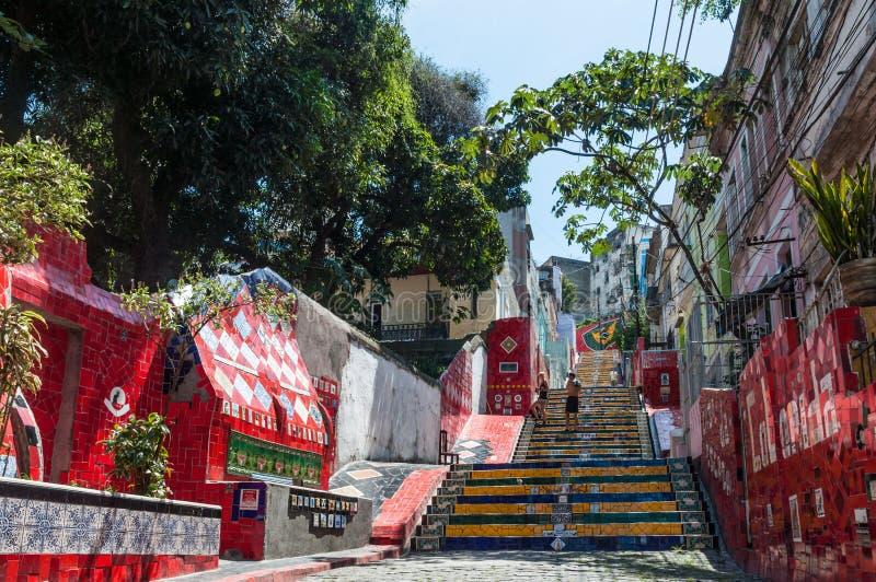 Escalera Selaron en Rio de Janeiro fotos de archivo