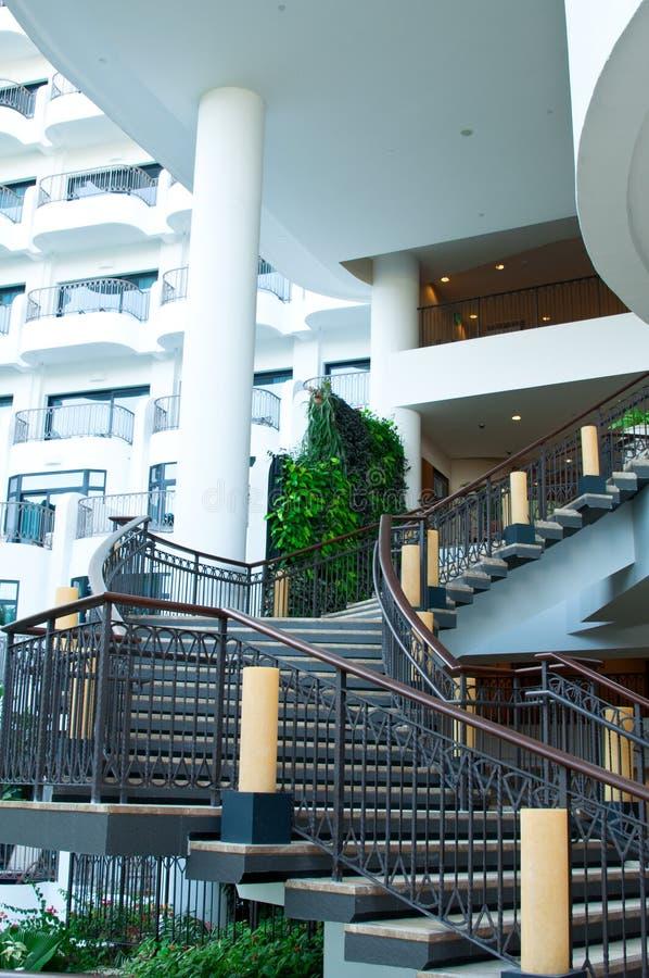 Escalera y balcones imagen de archivo