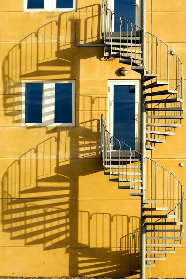 Escalera y cortina foto de archivo libre de regalías