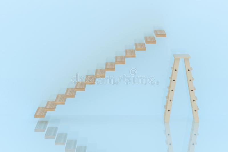 Escalera y escalera imagen de archivo libre de regalías