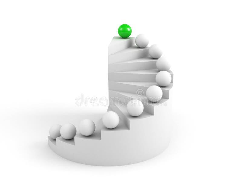 Escaleras al éxito ilustración del vector