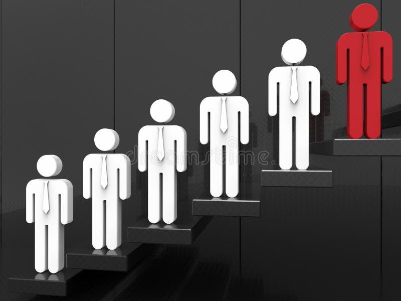 Escaleras al éxito - concepto del recorte ilustración del vector