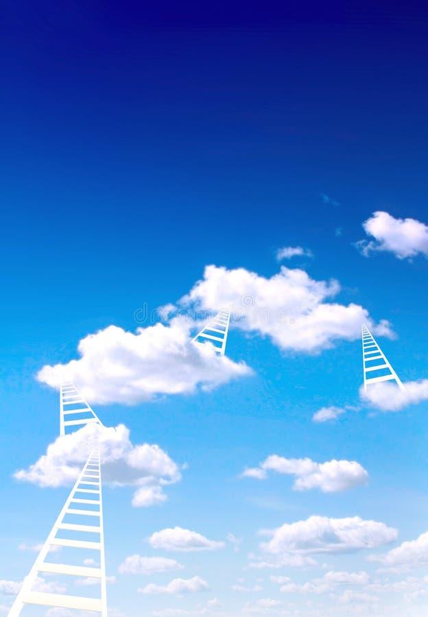 Escaleras al cielo ilustración del vector