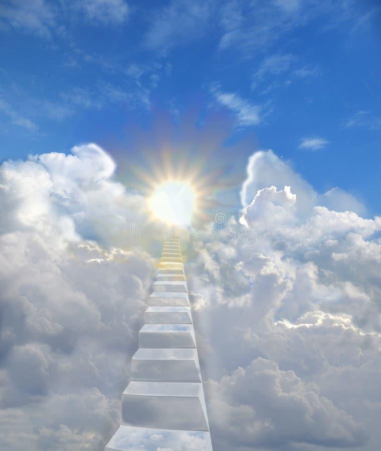 Escaleras al cielo imagenes de archivo