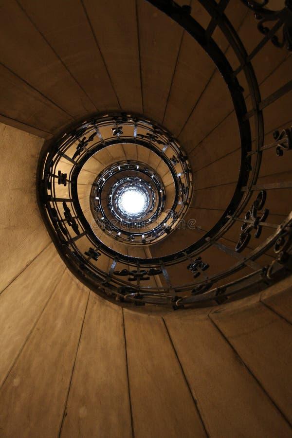 Escaleras barrocas en Budapest - Hungría imagen de archivo