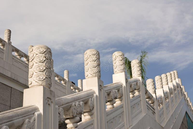 Escaleras chinas del museo de palacio nacional fotos de archivo libres de regalías