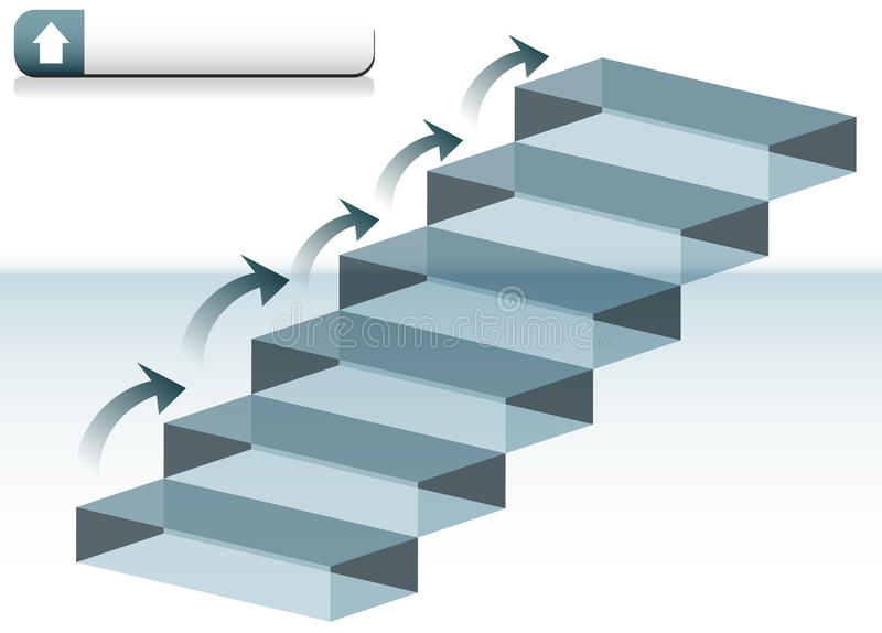 Escaleras de cristal ilustración del vector