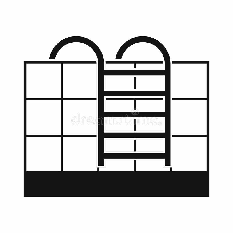 Escaleras de la piscina stock de ilustración