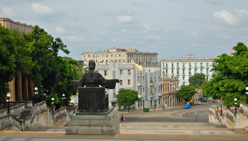 Escaleras de la universidad de La Habana fotografía de archivo