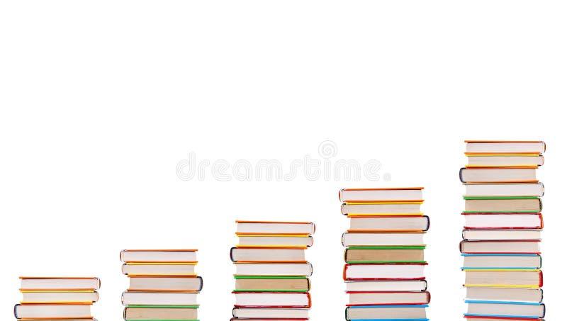 Escaleras de los libros fotos de archivo