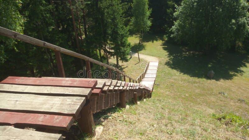Escaleras de madera fotos de archivo libres de regalías