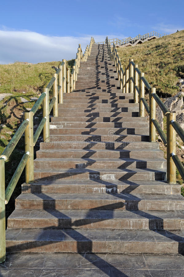 Escaleras de piedra foto de archivo libre de regalías