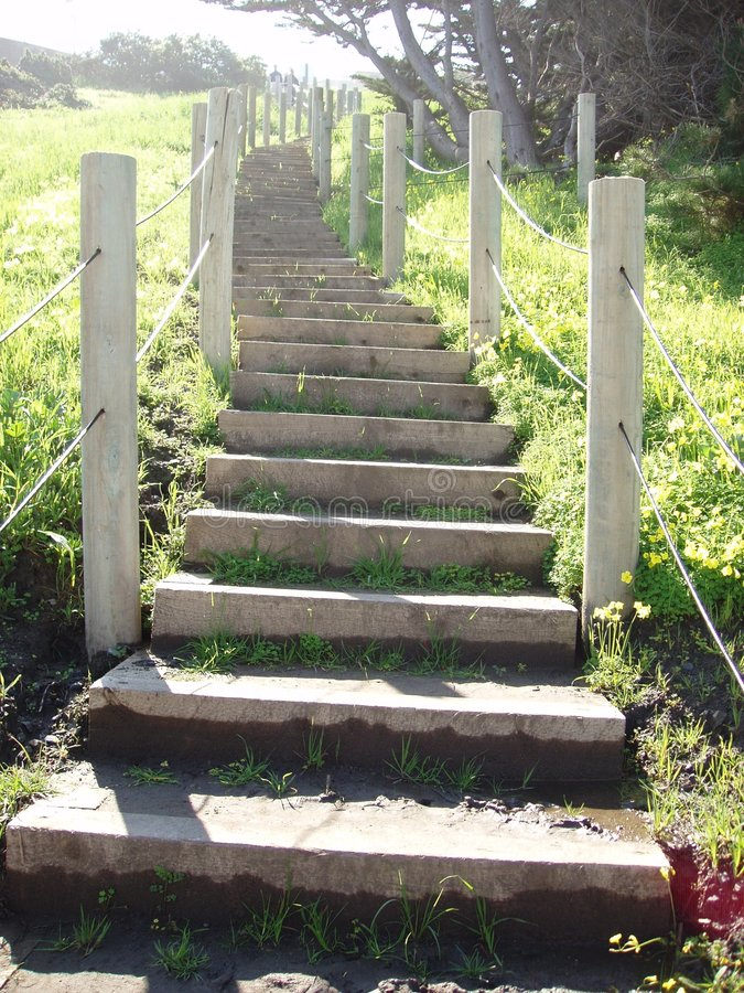 Escaleras De Seacliff Imágenes de archivo libres de regalías
